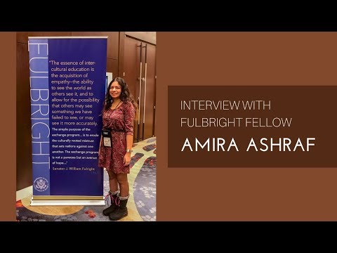 Amira Ashraf, Arabic teacher from Egypt, FLTA program