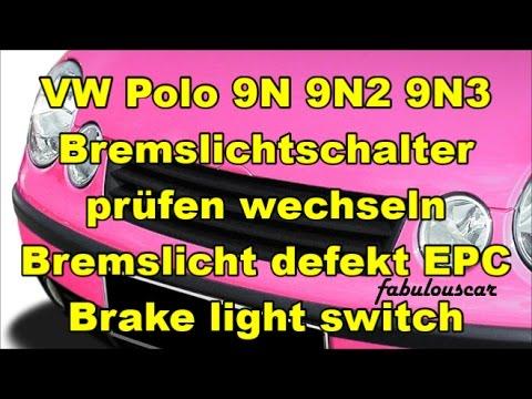Bremslichtschalter wechseln Bremslicht defekt EPC leuchtet | Brake ...