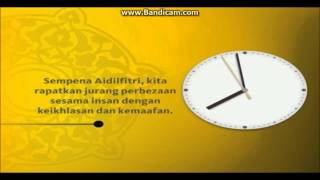 TV3 Maybank Islamic clock to 8:00 pm (late July 2014) [livestream capture]