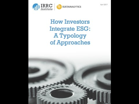 Webinar (North America) | How Investors Integrate ESG: A Typology of Approaches