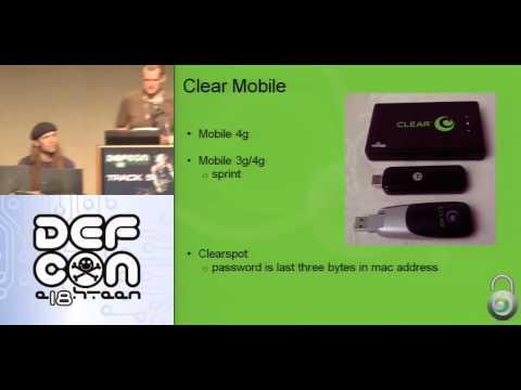 Defcon 18 - WiMax Hacking 2010  - Pierce Goldy a Smig Sanitybit - Part .mov
