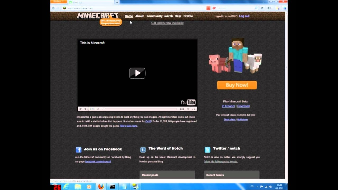 TRY MINECRAFT FOR FREE