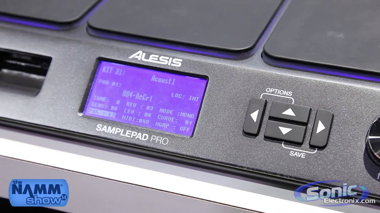 Alesis Sample Pad Pro Percussion Module | NAMM 2014 - YouTube