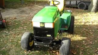 John Deere 455 diesel start up