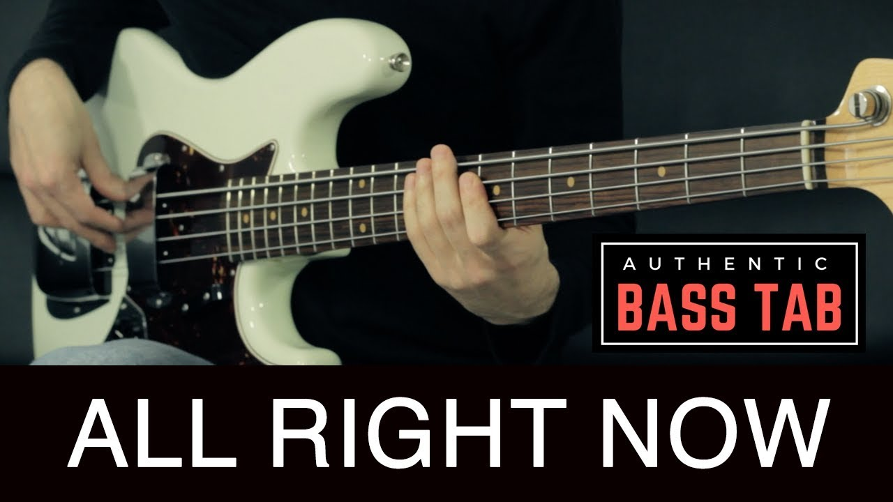 free all right now bass tab