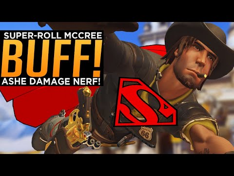 Overwatch: McCree SUPER-Roll BUFF! - Ashe Damage NERF!