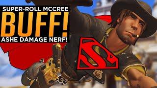 Overwatch: McCree SUPER-Roll BUFF! - Aṡhe Damage NERF!