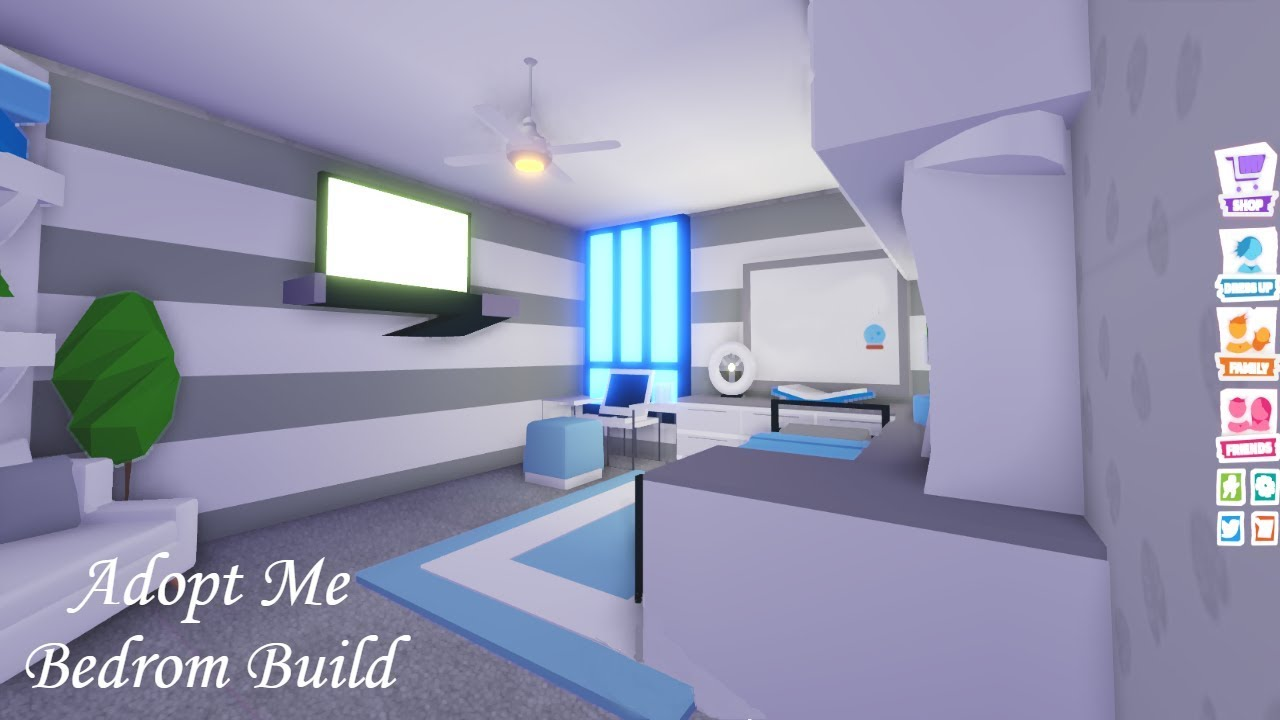 Bedroom Build Adopt Me Build Hacks Youtube