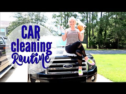 ULTIMATE CAR CLEANING ROUTINE | CAR CLEANING PRODUCTS I USE