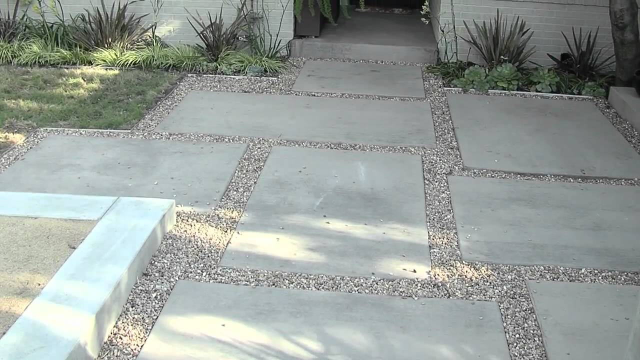 modern patio design - youtube - Concrete Slab Patio Ideas