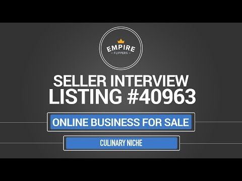 Online Business For Sale - $2.6k/month in the Culinary Niche