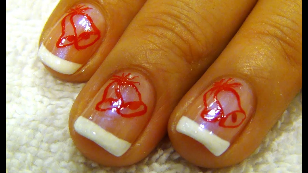 Christmas nail art tutorial jingle bells youtube christmas nail art tutorial jingle bells prinsesfo Image collections