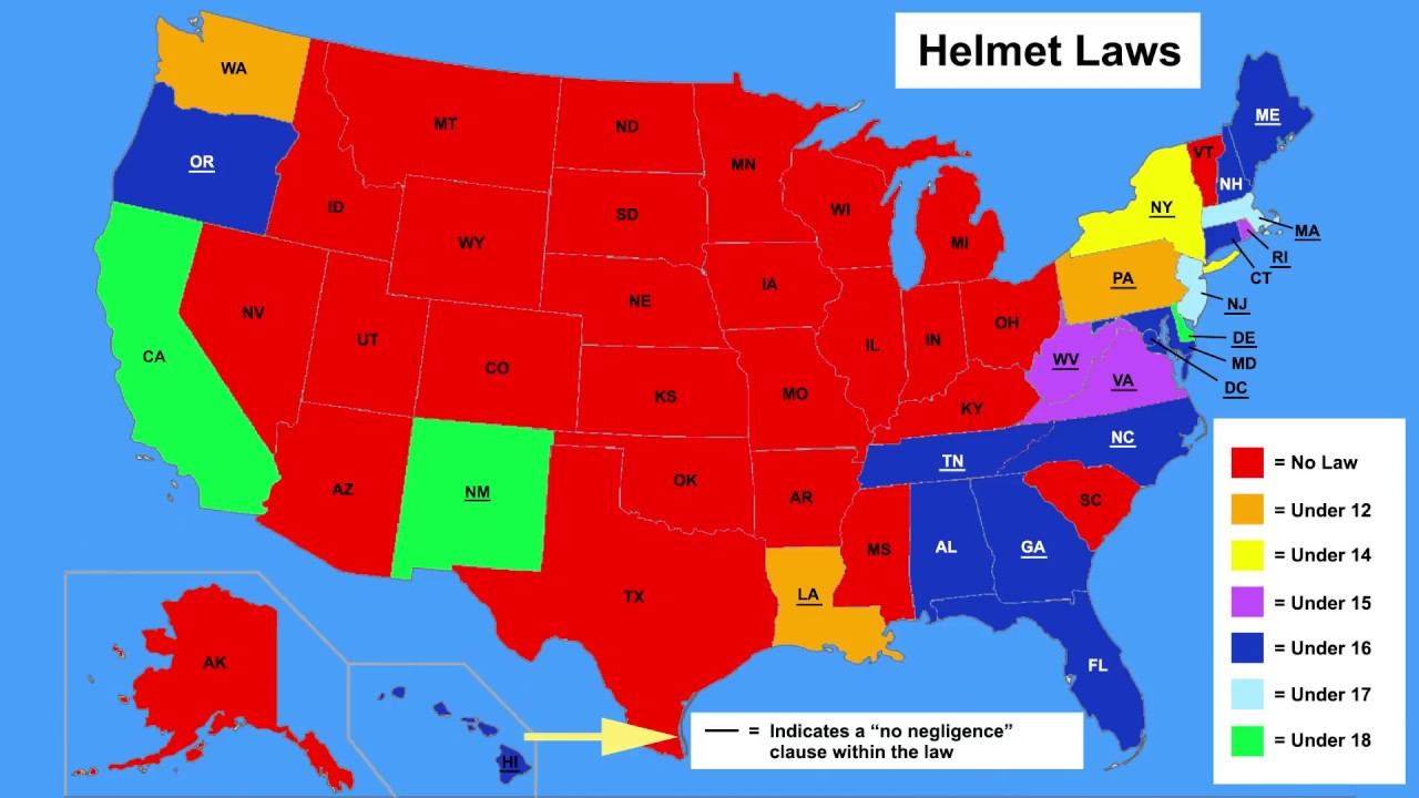 Do you need to wear a helmet? - Bicycle Law in All 50 States [2]