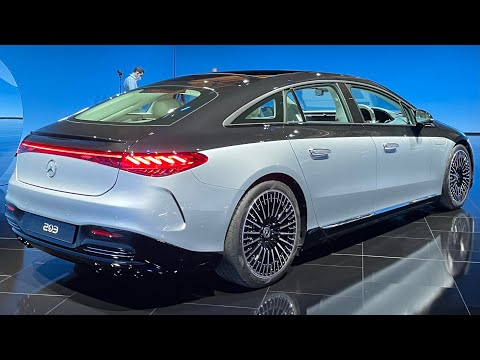 ALL NEW 2022 Mercedes Benz EQS! First Full View Exterior EQS AMG Line!