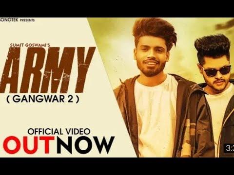 Army//sumit Goswami  Dj Niju Mixing  New Status Video  By Parvinder Porria