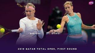 Kiki Bertens vs. Camila Giorgi | 2019 Qatar Total Open First Round | WTA Highlights