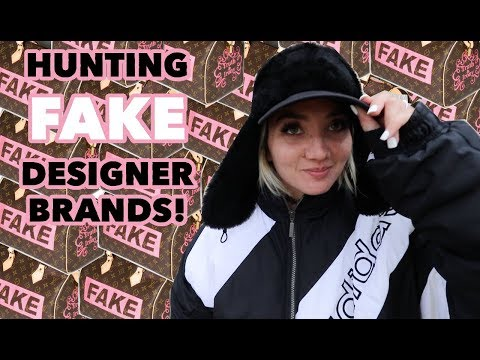 HUNTING THRIFT STORES FOR FAKE DESIGNER BRANDS! COUNTERFEIT LOUIS VUITTON FOUND!