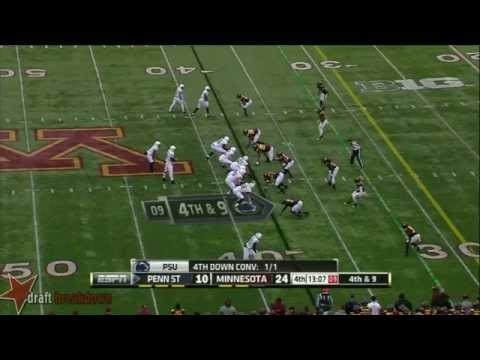 #64 John Urschel, RG, Penn State vs Minnesota