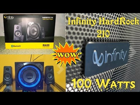 Unboxing and review of Infinity (JBL) HARDROCK 210. 100 watts 2.1 channel. This speaker is the BOMB