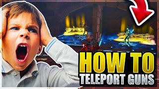 *NEW SCAM* Teleport Guns Through Wall Scam! (Scammer Gets Scammed) Fortnite Save The World