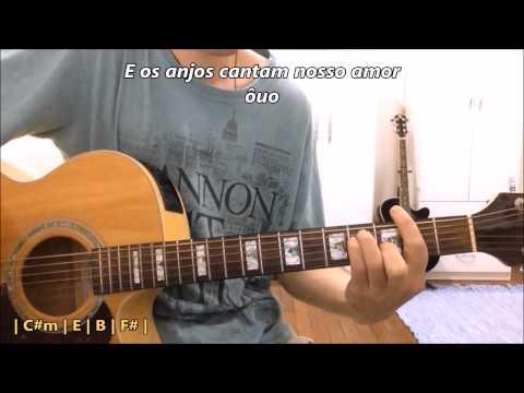 Os anjos cantam - Jorge & Mateus -- Violão e Teclado Virtual Instrumental (com solos, letra e cifra)