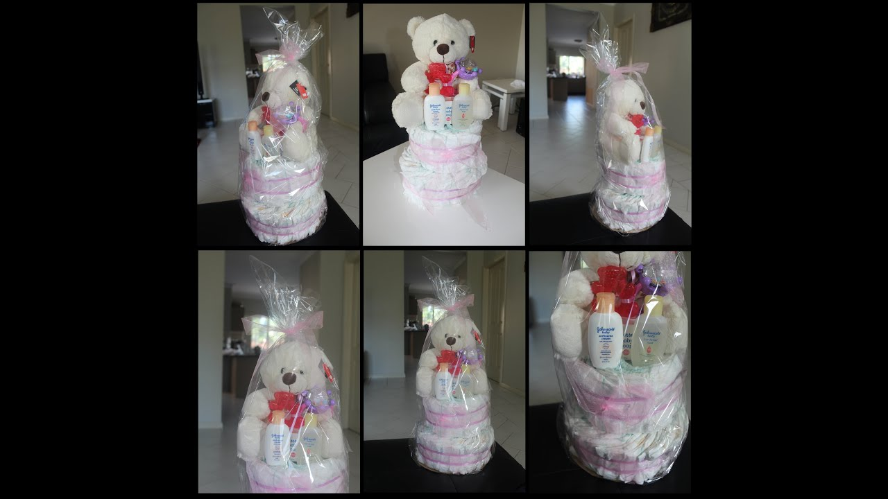 How To Make A Small Diaper Cake For A Girl