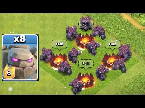 Clash Of Clans - NEW LEVEL GOLEM SWARM RAID!!! (NEW UPDATE)