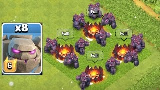 Clash Of Clans - NEW LEVEL GOLEM SWARM RAID!!! (NEW UPDATE)