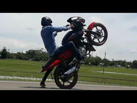 Bajaj Pulsar 150 - Wheelie - STOPPIE | Stunts