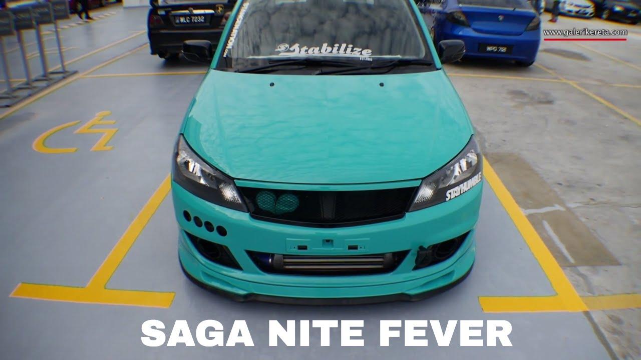 Proton Saga Flx Stance Hijau Petronas Nite Fever Event