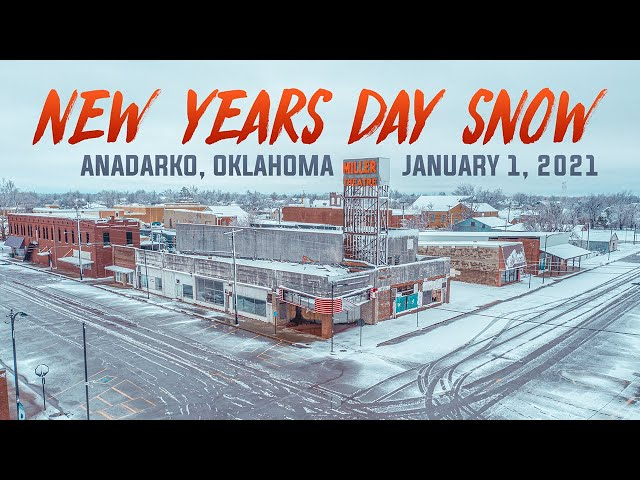 NEW YEARS DAY SNOW / Anadarko, OK / January 1, 2021