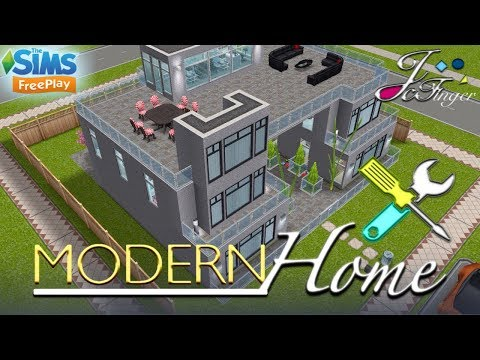 The Sims FreePlay 🛠 LIVE BUILD 🛠 🚪  MODERN HOME   🚪 by Joy.