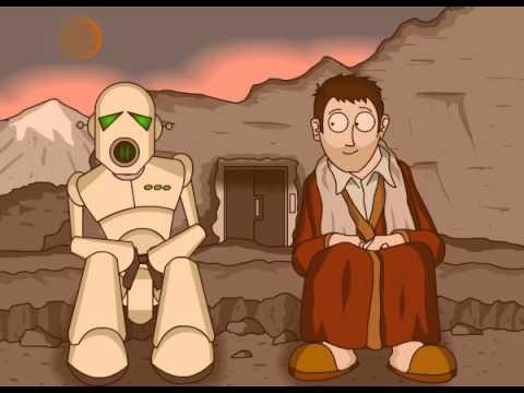 Arthur Dent and Marvin