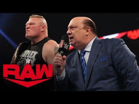 Brock Lesnar to enter at No. 1 in the Royal Rumble Match: Raw, Jan. 6, 2020