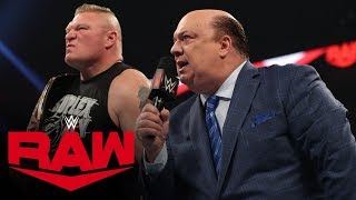 Brock Lesnar to enter at No. 1 in the Royal Rumble Match: Raw, Jan. 6, 2020