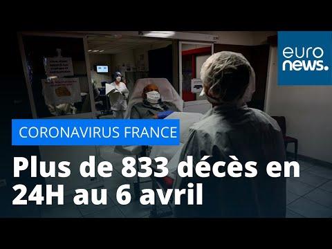 Coronavirus: 8 911 décès au total, plus de 833 en 24 heures en France