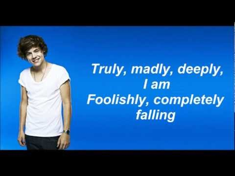 One Direction - Truly Madly Deeply (Lyrics and Pictures)