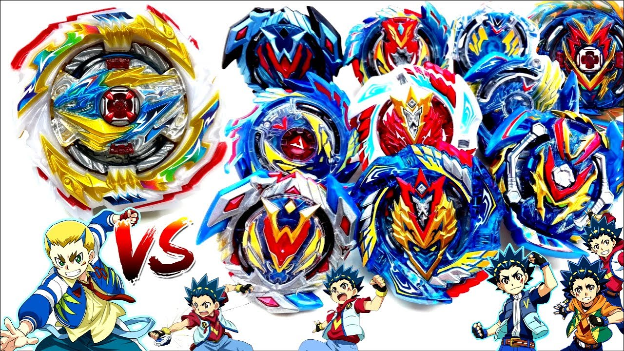 TEMPEST DRAGON vs ALL VALKYRIES EVOLUTIONS GEN Beyblade Burst SuperKing Battle Royaleベイブレードバースト超王