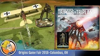 Wings of Glory: Tripods & Triplanes — game teaser at Origins 2018