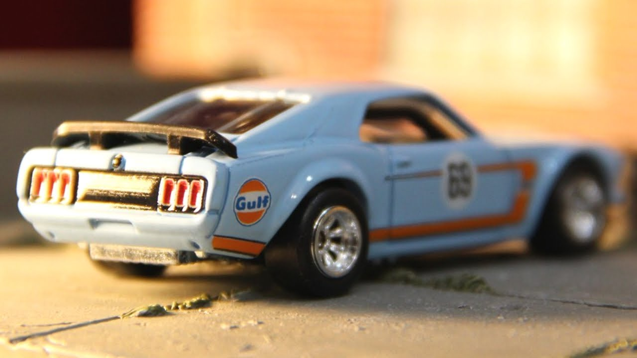 HOTWHEELS CAR CULTURE GULF 69 FORD MUSTANG BOSS 302 ALLOYS /& REAL RUBBER TYRES//