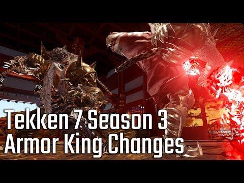 Tekken 7 Season 3 Changes: Armor King Sneak Preview! - YouTube