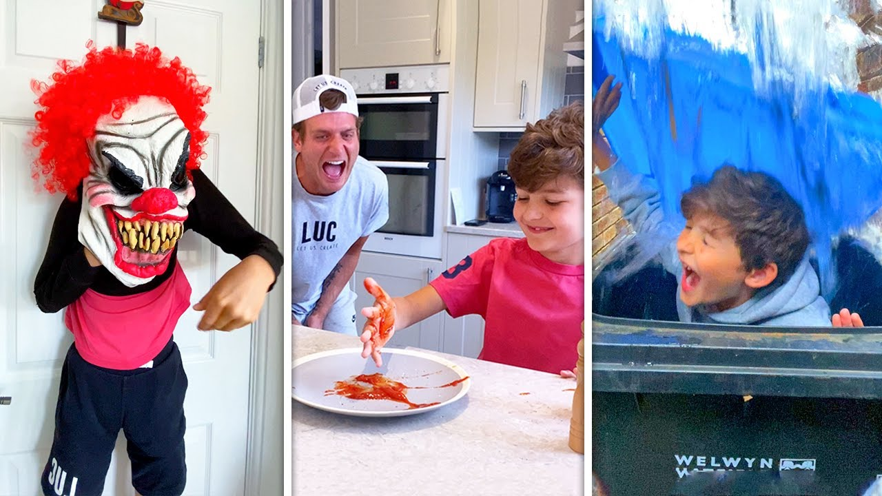 CRAZIEST DAD VS SON PRANK WAR EVER!! 😂😂😂