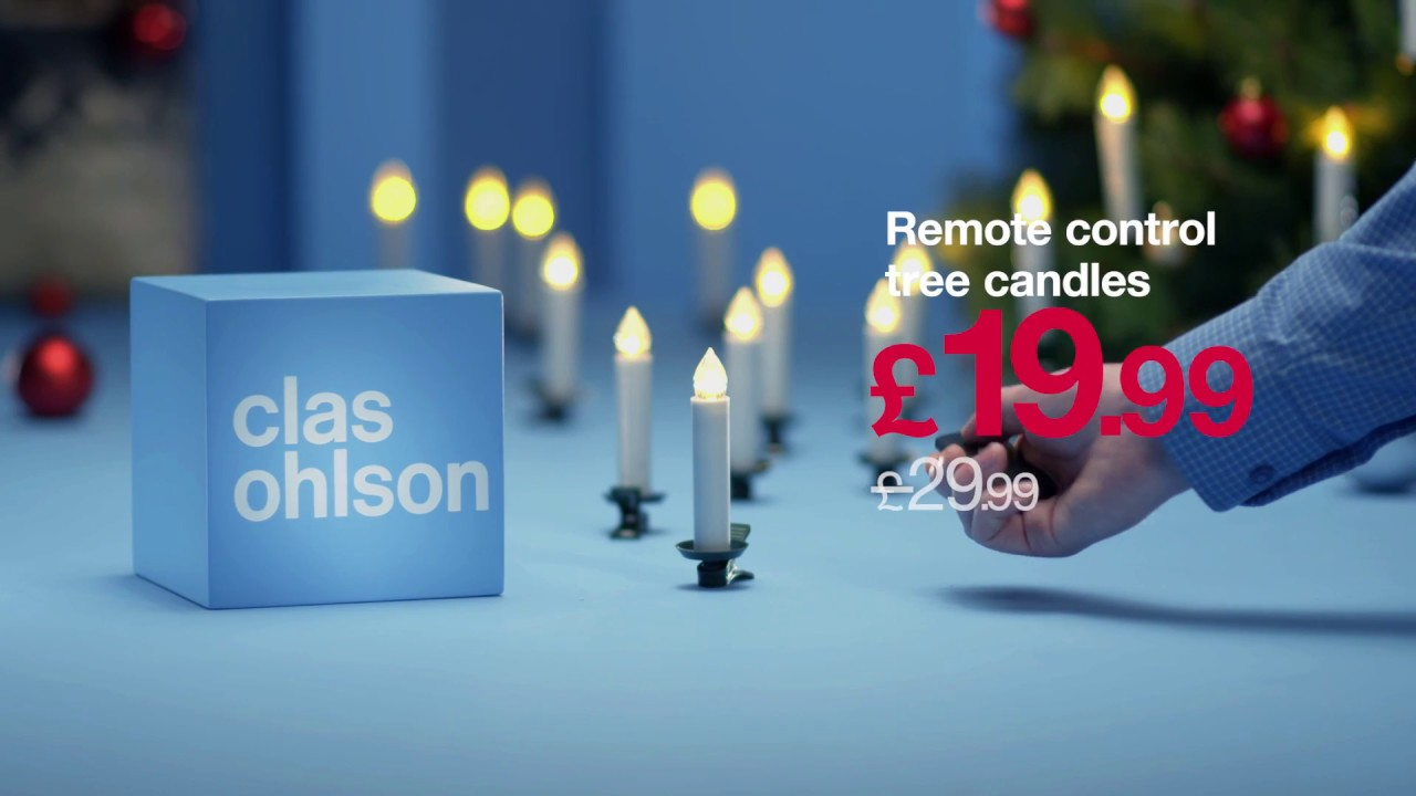 cordless christmas tree candles clas ohlson