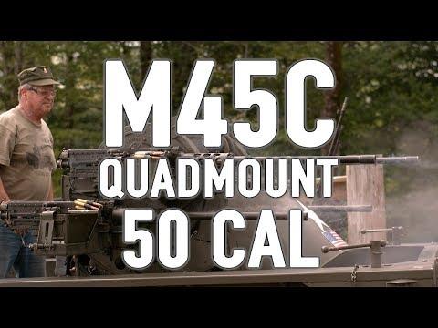 M45C Quadmount 50 cal 'Meat Chopper' in action (4K)
