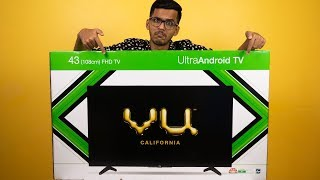 """Vu 43"""" FHD Ultra Android Smart TV Unboxing & Initial impressions!"""