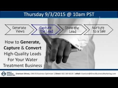 Direct Business Marketing | Direct-Response Marketing | Water Treatment Business Webinar