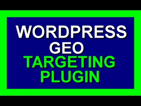 Wordpress Geotargeting Plugin - Geo Target Website Visitors In Wordpress Titles And Widgets 2014