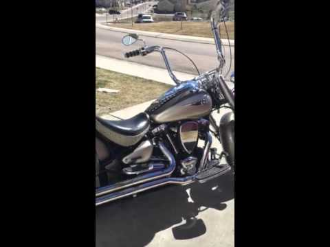 Yamaha roadstar ape hangers - YouTube