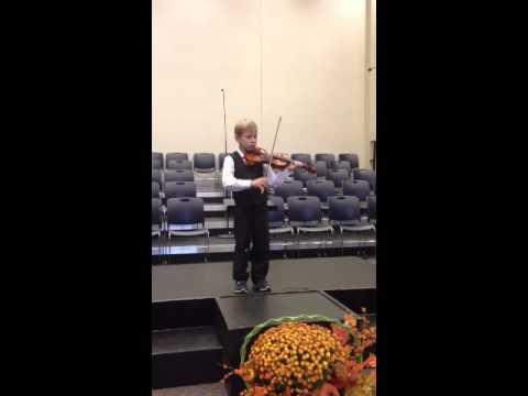 Ethan's first violin recital
