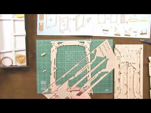 Сборка модели Ширма мастера Ugears Game - Video